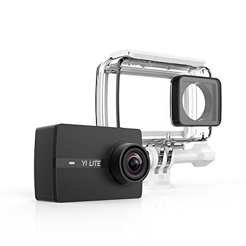 YI Lite Action Kamera mit wasserdichtem Gehäuse Set, 16MP 4K/15fps Action Cam mit 5,08 cm (2,0 Zoll) LCD Touchdisplay, 150° Weitwinkelobjektiv, Actioncam und Bluetooth 4.0- Schwarz