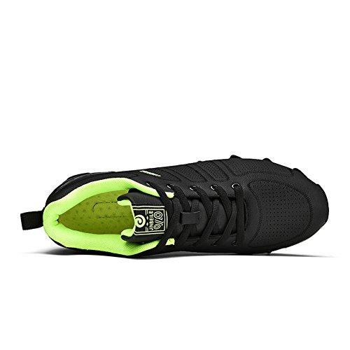Casuale Scarpe traspirante Moda Atletico All'aperto Running Runner Anti scivolo Scarpe da ginnastica per Uomo Verde