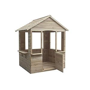 Outdoor Toys Casita ADELE. Dimensiones 120 X 108 X 138 cm, Madera de Pino, multicolor (Kovyx Outdoor Amazon ES KNH1000)