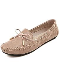 Minetom Mujer Moda Zapatos De Los Guisantes Estilo Casual Zapatos Con Bowknot Primavera Verano Otoño Zapatos