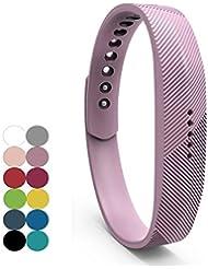 Fitbit Flex 2bandas, yefod silicona pulsera de repuesto accesorios correa de pulsera para 2016Fitbit Flex 2deportes de fitness Rastreador de actividad., color Lilac