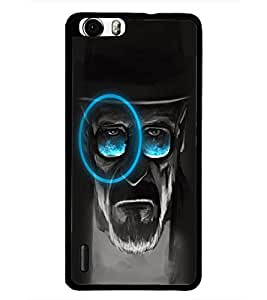 PrintDhaba Hat Man D-5082 Back Case Cover for HUAWEI HONOR 6 PLUS (Multi-Coloured)