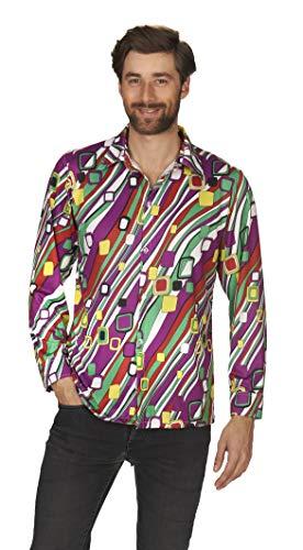 Andrea Moden 592-46/48adultos Disfraz Retro Camisa para hombre, multicolor, 46/48