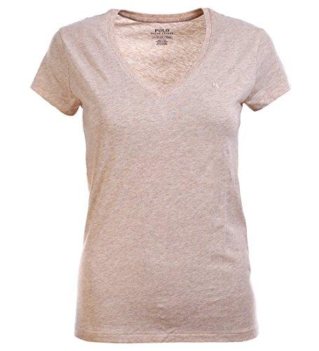 Ralph Lauren Polo Damen V-Neck Shirt T-Shirt Khaki Größe XS