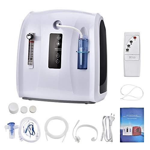 ETE ETMATE Tragbarer Sauerstoffkonzentrator 1-6L / min LED-Timing-Anzeige Einstellbare tragbare Sauerstoffmaschine für zu Hause und unterwegs