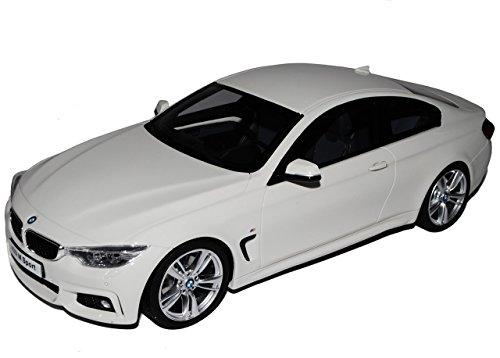 Preisvergleich Produktbild BMW 4er M435i Sport Coupe Weiss Nr ZM 022 Ab 2013 1/18 GT Spirit Modell Auto mit individiuellem Wunschkennzeichen