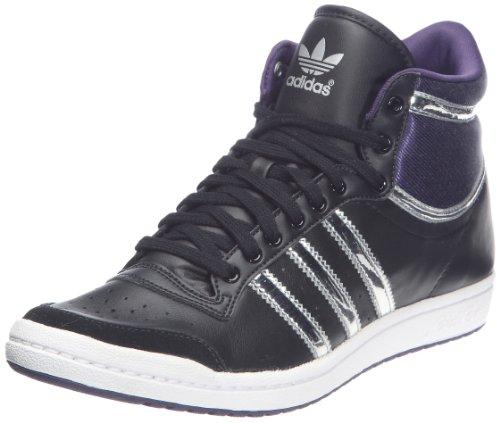 Adidas Ten Hi Sleek W, Zapatillas De Deporte Para Mujer, [top] Noir1 / Argent Métallique / Aubergine
