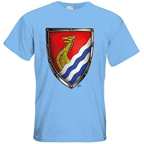 getshirts - Das Schwarze Auge - T-Shirt - Die Siebenwindküste - Wappen - Kyndoch Sky Blue