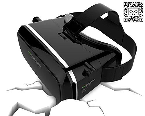 VR-PRIMUS Shinecon 1 - Virtual Reality VR-Brille - Einstellbar - für Android und iOS Smartphones wie iPhone, Samsung, HTC, Sony, LG, Huawei, Motorola, ZTE und weitere - Kompatibel mit Google Cardboard Apps. 3D Videobrille Headset.
