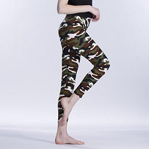 Pantalon de Sport, HUHU833 Femmes Mode Yoga Gym Fitness Leggings Exercice Pantalon athlétiques A