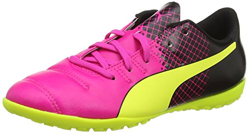 Puma Unisex-Kinder Evopower 4.3 Tricks Tt Junior Fußballschuhe, Pink (Pink Glo/Safety Yellow/Black), 37 EU