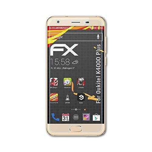 atFolix Schutzfolie kompatibel mit Oukitel K4000 Plus Bildschirmschutzfolie, HD-Entspiegelung FX Folie (3X)