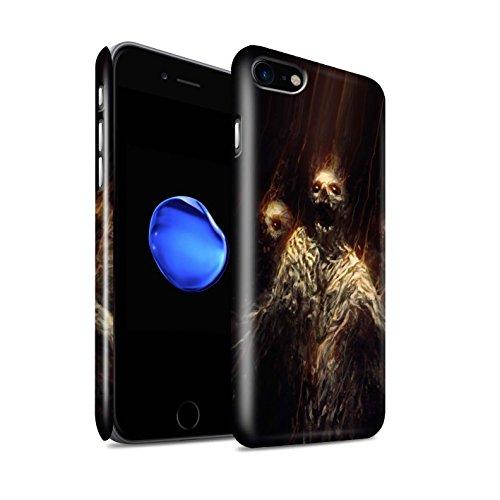 Offiziell Chris Cold Hülle / Glanz Snap-On Case für Apple iPhone 7 / Dunkelste Stunde Muster / Dämonisches Tier Kollektion Ghouls der Furcht
