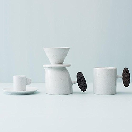 GAOLI Hand-Made Coffee v60 Hand Grinding Filter Coffee Special Cup Creative Coffee Set White
