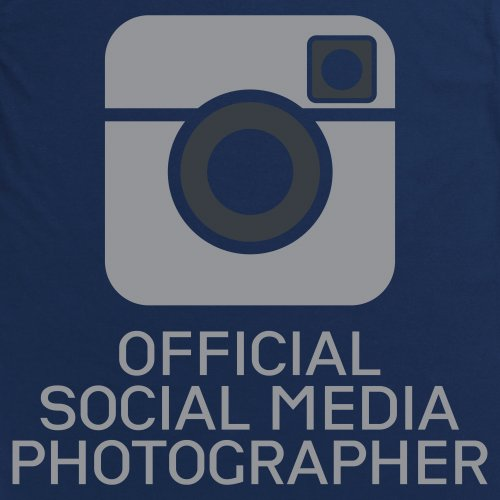 Social Media Photographer T-Shirt, Damen Dunkelblau