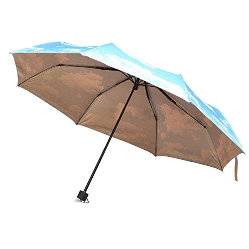 Katomi cielo blu anti-UV antivento da viaggio pieghevole gocce di pioggia/ombrellone
