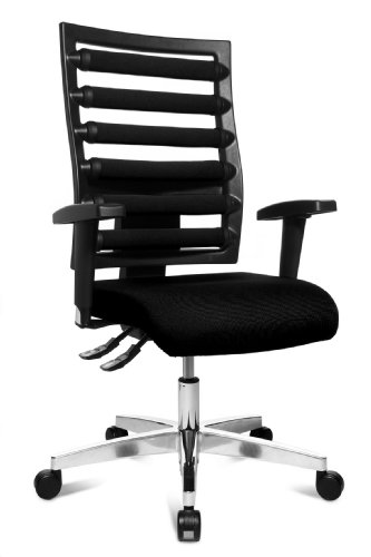 Topstar WO9TT200 Bürodrehstuhl Workout inklusive höhenverstellbare Armlehnen / Bezugstoff schwarz thumbnail