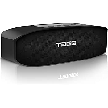 TAGG Loop Portable Wireless Bluetooth Speaker with Mic (Black)