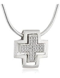 Esprit Damen Halskette 925 Sterling Silber rhodiniert Zirkonia ESNL92841A430