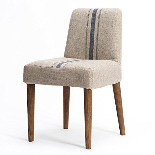 ERRU-Chaises Chaise à manger en bois massif de mode nordique/Étude de bureau ménager Chaises de table de café(41 * 43 * 77CM, couleur optionnelle) (Couleur : Bleu, taille : 1 Piece)
