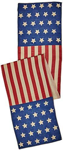 Amscan International 5700254. Juli USA Stoff Tischläufer