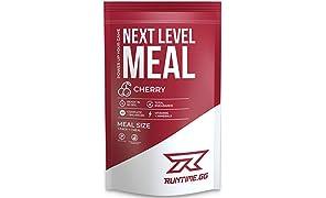 Runtime Meal | Sustituto de las comidas que proporciona saciedad, energía, concentración | 25 vitaminas, minerales y nutrientes | 150g (Cherry)