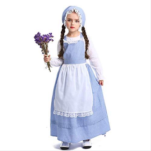 Sensenmann Kostüm Weiblichen - HG-amaon Kindertagesdrama-Bühnenshow-Kostüme, Halloween-Garten-Wind-nettes Spitze-Kleid S