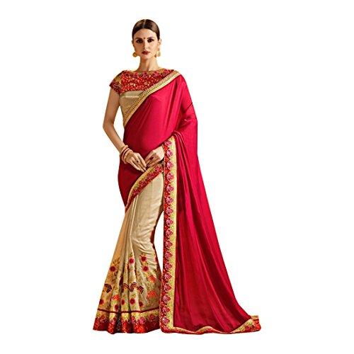 ETHNIC EMPORIUM Matrimonio etnico indiano Seta Saree donna tradizionale abito da sposa partywear richlook indiano sari jari latest 740