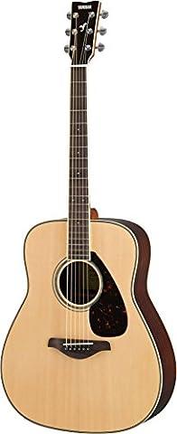 Yamaha FG830 series dreadnought acoustic guitar in natural