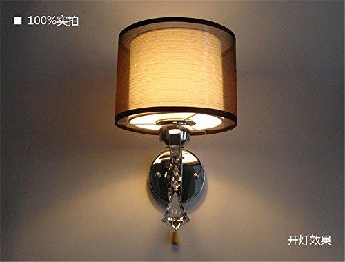 Wandleuchte kreative Wand lampe Mode Stoff Wandleuchte Schlafzimmer Flur Beleuchtung Beleuchtung led Möbel ziehen line Wand-/18 x 30 cm.
