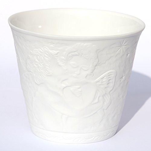 Ángel Diseño Feng Shui–Portavelas de porcelana con mediante faros Efecto