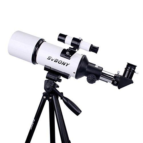 Svbony Teleskop SV20 80mm Reflektor Teleskop mit Svbony Hochwertigem Stativ und Handy Adapter für Einsteiger, Amateur-Astronomen und Kinder