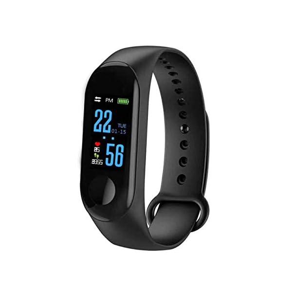 BIYI M3 Unisex Health Tracker Smart Band Reloj Pulsera Pulsera Fitness Tracker Monitor Pulsera (Negro) () 1