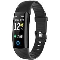 Montre Connectée, ELEGIANT Bracelet Connectée Intelligent Fitness Tracker IP68 Étanche Écran Coloré avec Cardiofréquencemètre Podomètre Moniteur de Sommeil Calorie pour Smartphone IPhone Android IOS