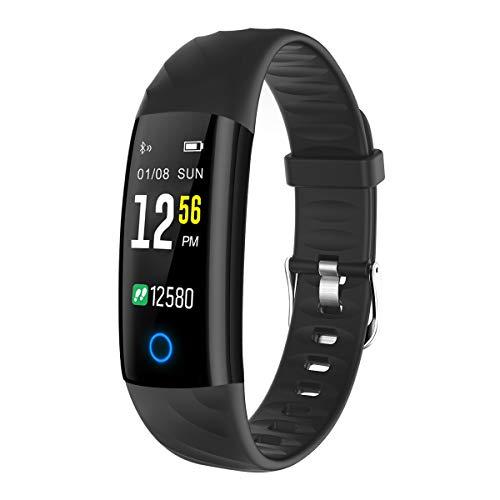 ELEGIANT Pulsera de Actividad Reloj Inteligente Deportivo IP68 Hombre Mujer con Monitor de Ritmo Cardíaco Sueño Calorías Podómetro Notificación Llamada Mensajes Whatsapps Facebook para iPhone Android