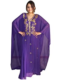 Egypt Bazar Abaya Festkleid aus Chiffon, Einheitsgröße: M bis XXXL, in Verschiedenen Farben