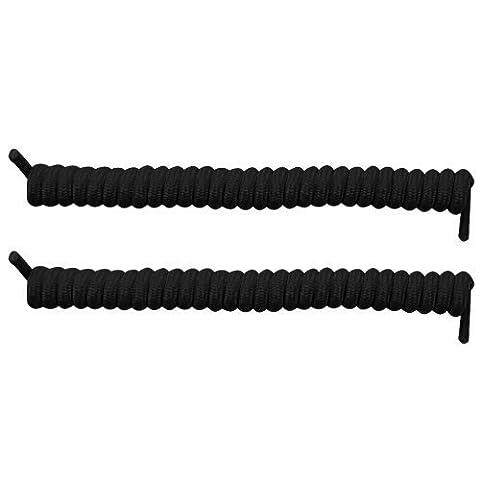 Curly Elastic No Tie Shoe Laces (Black)