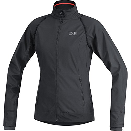 GORE BIKE WEAR 2 in 1 Damen Fahrradjacke, Super Leicht, Kompakt, GORE WINDSTOPPER, ELEMENT LADY WS AS Zip-Off Jacket, Größe: 44, Schwarz, JWZLEL