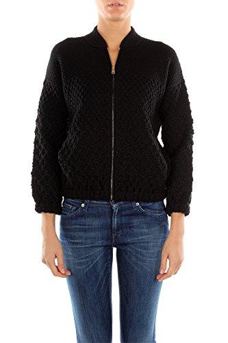 125671NERO Prada Sweatshirts Damen Wolle Schwarz Schwarz