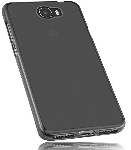 mumbi Schutzhülle für Huawei Y6 II compact Hülle transparent schwarz