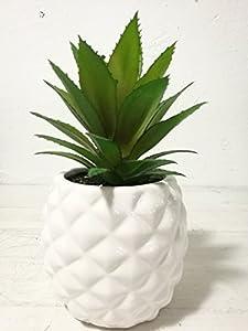 Planta suculenta artificial en maceta