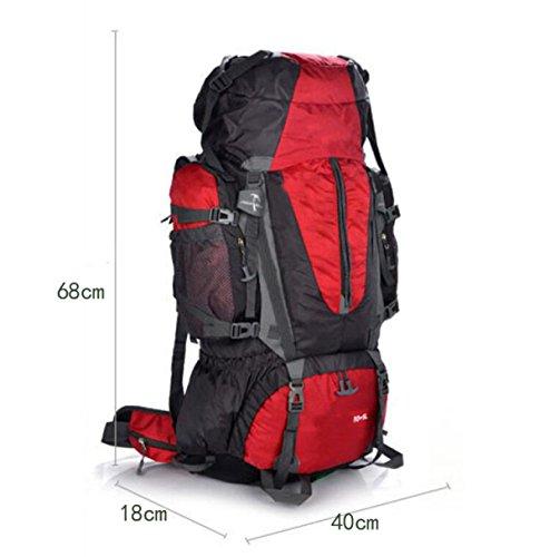 Wandern Und Rucksack Camping Und Wandern Klettern Regenschutz Staubdicht Multifunktions-Funktion,Green Orange