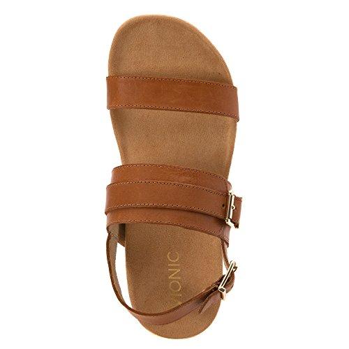 Vionic Womens 342 Grace Samar Leather Sandals Tan