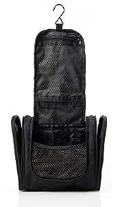 TRAVEVO Kulturbeutel zum Aufhängen für Damen und Herren   kleine Kosmetiktasche mit stabilem Haken   wasserdichte Reisetasche und Kulturtasche für Urlaub , Reisen und Outdoor   24 x 22 x 14 cm   inklusive GARANTIE
