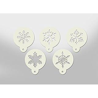 5X Christmas Coffe/Cake/Window Mylar Stencils - Perfect for Coffee dusting, Cake dusting and window spray