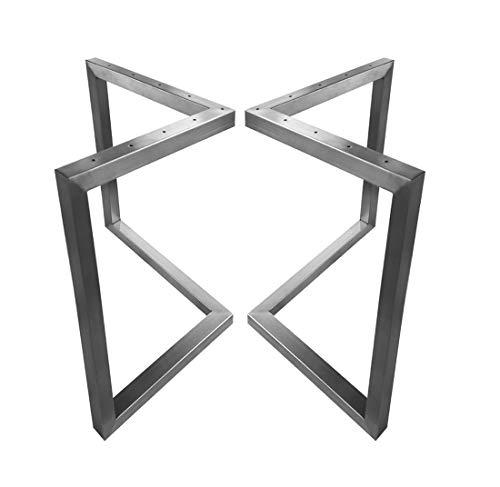 CHYRKA V-Tischkufe Edelstahl 201 30×30 Tischgestell Rahmentisch Kufengestell Tischuntergestell