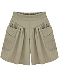63f84ae090c Uminilife Women Shorts Ladies Summer Short Pants Loose Casual Wide Leg  Pants Shorts Hot Pants UK