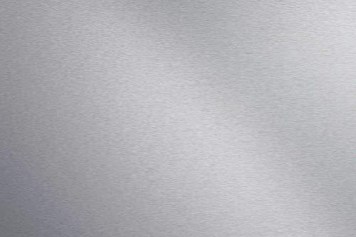 Artland Qualität I Spritzschutz Küche I Alu Küchenrückwand Herd BxH: 90x60 cm sehr schnelle und einfache Montage Uni Alu gebürstet