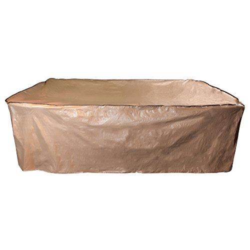 Abba Patio® Abba Innenhof Outdoor/Veranda Rechteckiger Tisch und Stuhl-Set, Wasserfest, Alle Wetter Schutz, Tan Farbe (Veranda, Patio Set)