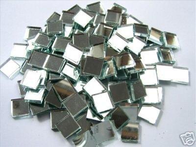 Mosaic Mirror tiles 10 x10 x 3mm Glass Silver Mirror Tiles. 100 Tile Pack